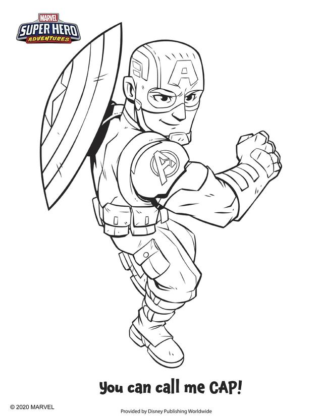 Channel Your Inner Art Powers With Marvel Super Hero Adventures Coloring Pages Marvel