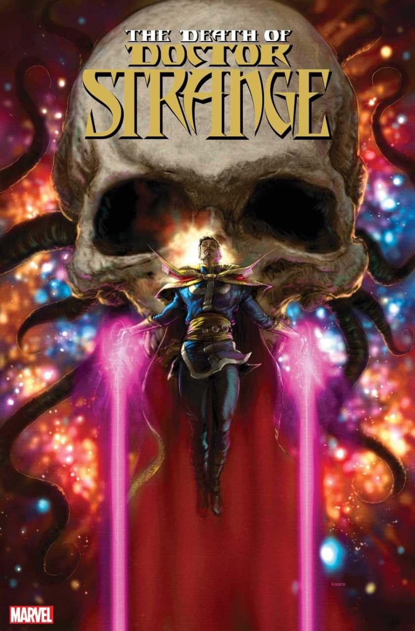 copertina di DEATH OF DOCTOR STRANGE #1 di Kaare Andrews
