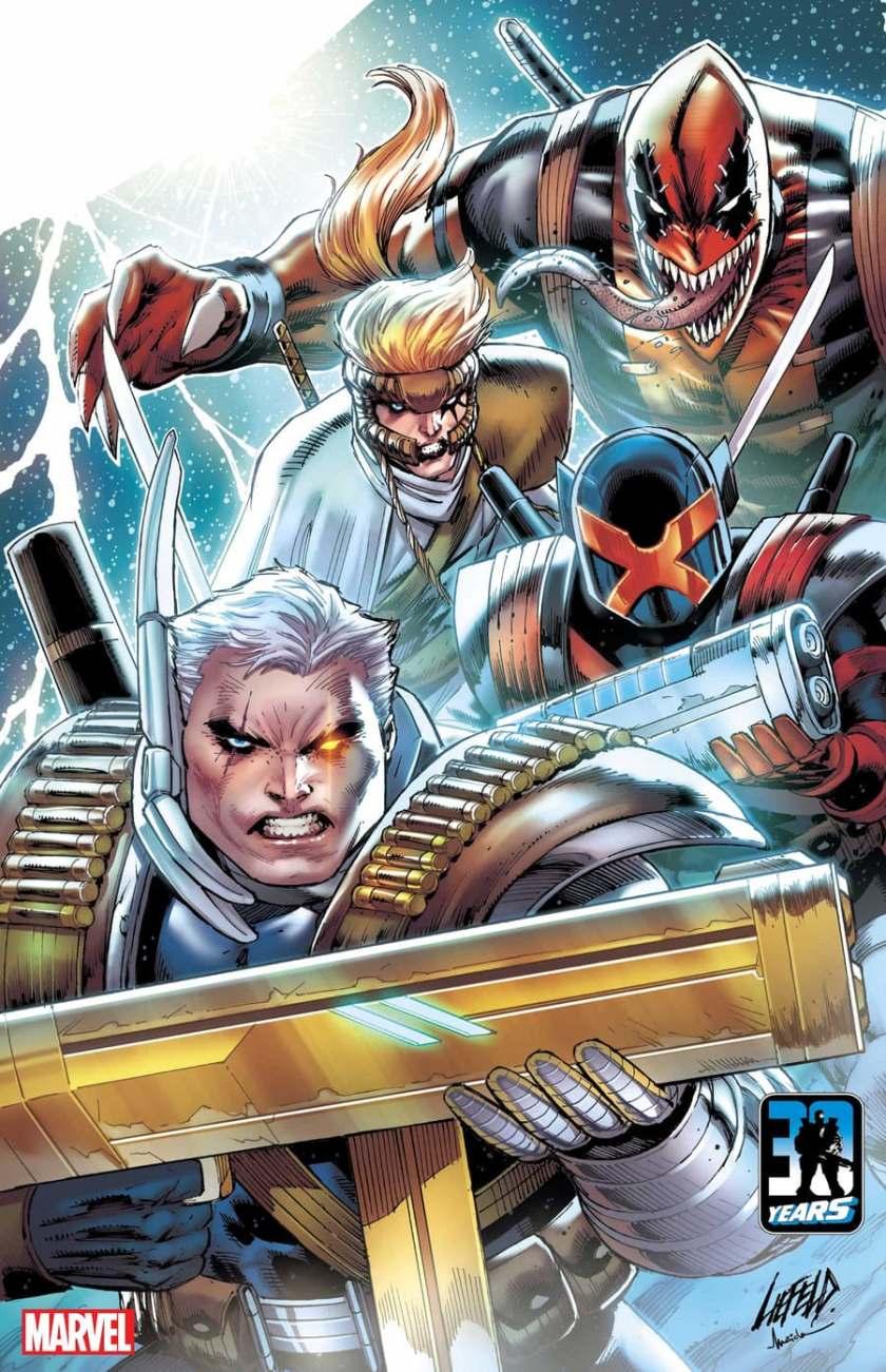 X-FORCE: KILLSHOT #1 copertina di Rob Liefeld