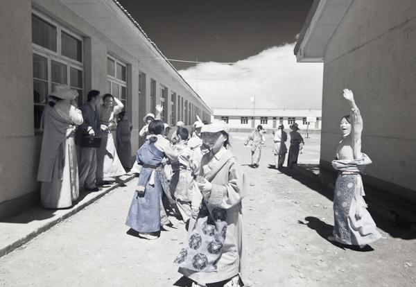 School yard in Kham