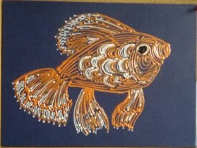 Goldfish, acrylic on canvas board (Image Wall)