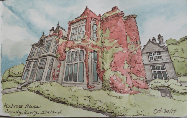 Virtual Paintout Ireland, Dreaming of Grand Houses, Forests & Lakes.