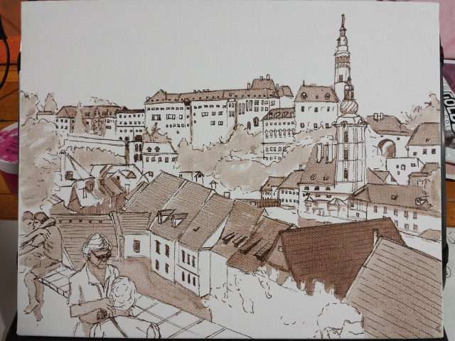 Virtual Paintout: Cesky Krumlov,  Czech Republic