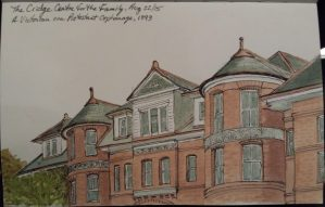 cridge centre sketch (From Urban Sketch to Note Cards & Mugs)