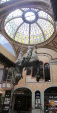 St. Wenceslas riding dead upside-down horse