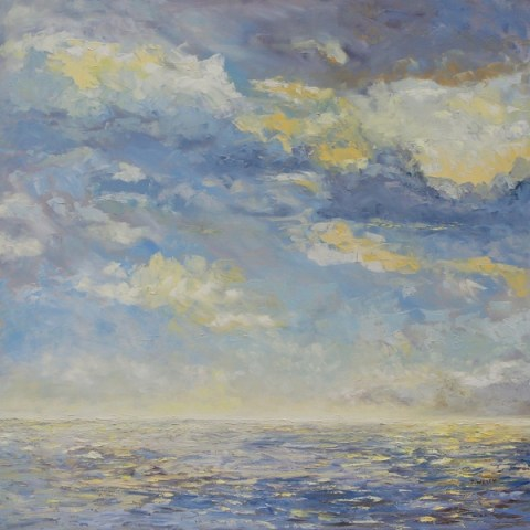 Sea and Clouds 36 X 36 inch oil on canvas by Terrill Welch IMG_8128