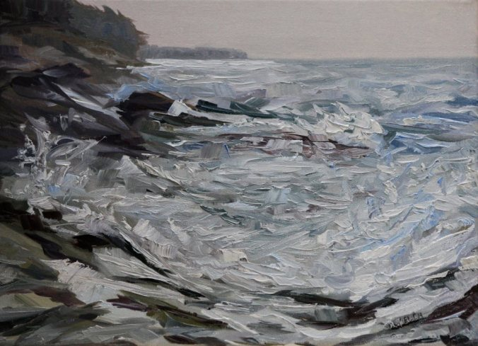Speak To Me esquisse west coast Canadian landscape 12 x 16 inch oil on canvas by Terrill Welch