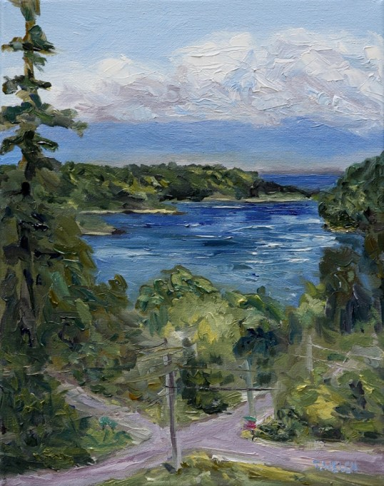 From Felix Jack Road Mayne Island 14 x 11 oil on canvas by Terrill Welch 2013_05_28 267