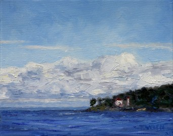 Island with the Lighthouse 8 x 10 inch oil on canvas by Terrill Welch 2013_05_28 272