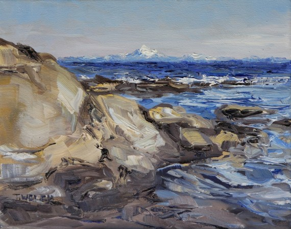 The Mt. Baker Reach 8 x 10 inch oil on canvas by Terrill Welch 2013_07_02 015