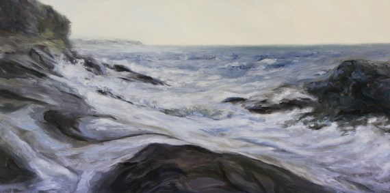 Rhythm of the Sea Edith Point 20 x 40 inch oil on canvas by Terrill Welch 2013_04_16 069