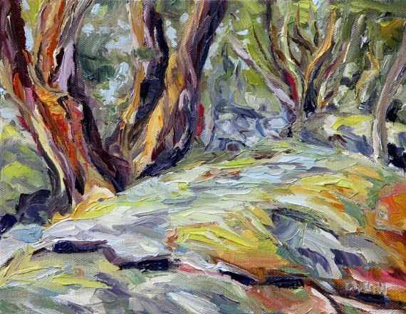 Arbutus by the Trail 8 x 10 inch oil on canvas by Terrill Welch 2013_11_16 007