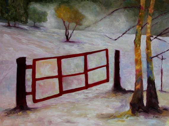 Red Gate 30 x 40 inch oil on canvas by Terrill Welch 2014_01_09 014