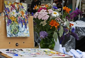 Painting Flowers at the Farmers' Market by Terrill Welch 2014_07_05 002