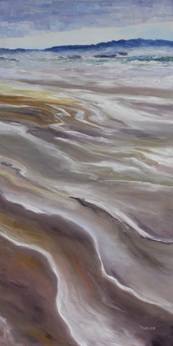 Long Beach Vancouver Island 48 x 24 inch oil on canvas by Terrill Welch 2013_08_23 027
