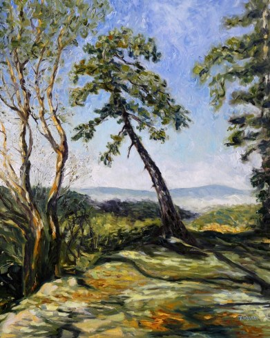 Trail Along the Ridge 30 x 24 inch oil on canvas by Canadian landscape painter Terrill Welch 2014_11_26 016
