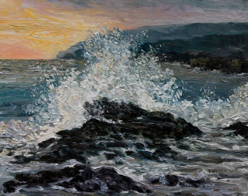 Point No Point Mid-storm 16 x 20 inch walnut oil on canvas by Terrill Welch 2015_04_25 137
