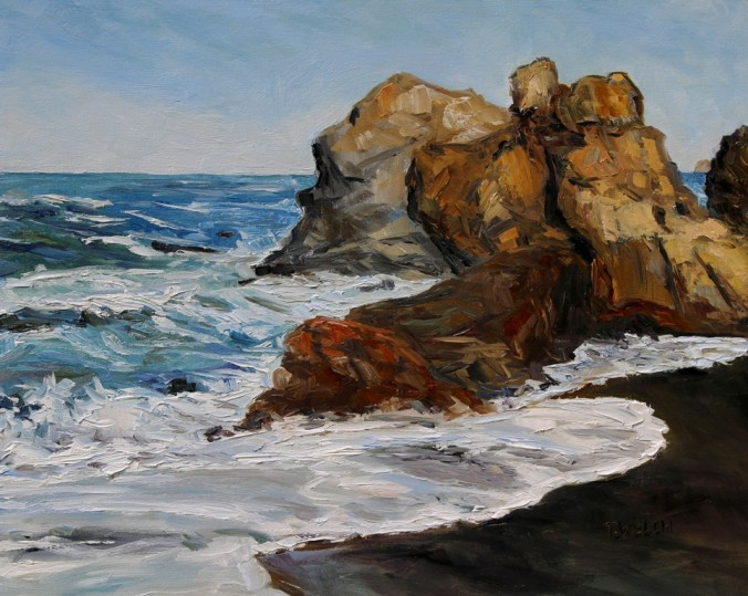 Northern California Surf Building 16 x 20 inch oil on canvas by Terrill Welch 2015_05_13 066