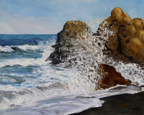 Northern California Surf Connecting 16 x 20 inch oil on canvas by Terrill Welch 2015_05_13 083