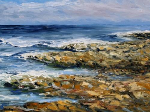 Salish Sea No Separation 18 x 24 inch walnut oil on canvas by Terrill Welch 2015_08_23 096
