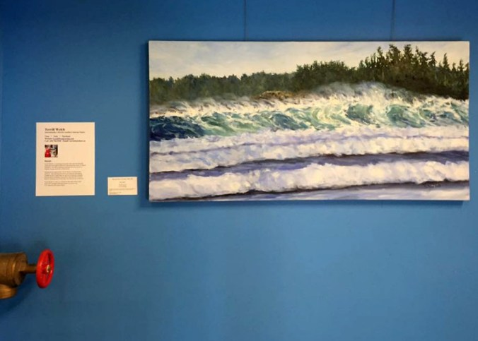 first landing solo show of Canadian artist Terrill Welch at Emily Carr Branch of GV Library iphone by Terrill Welch