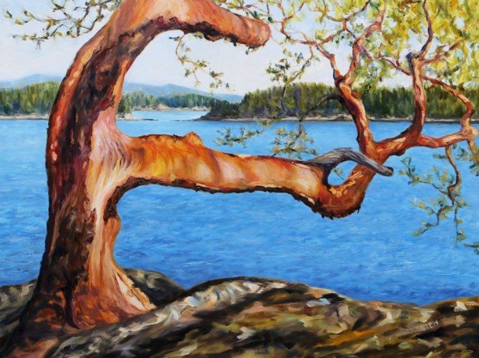 Arbutus-Tree-Reaching-36-x-48-inch-oil-on-canvas-by-Canadian-artist-Terrill-Welch-January-22-2018-IMG_3656.jpg