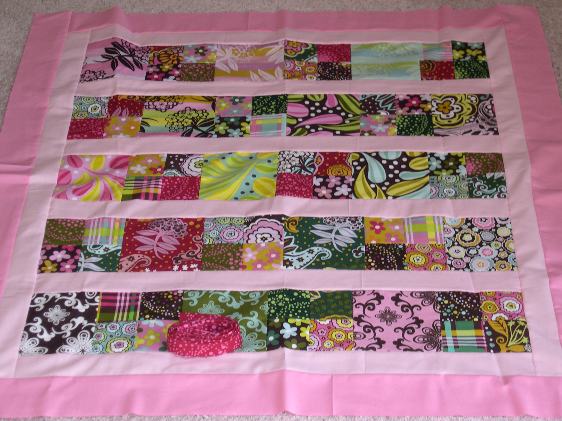 candy quilt top
