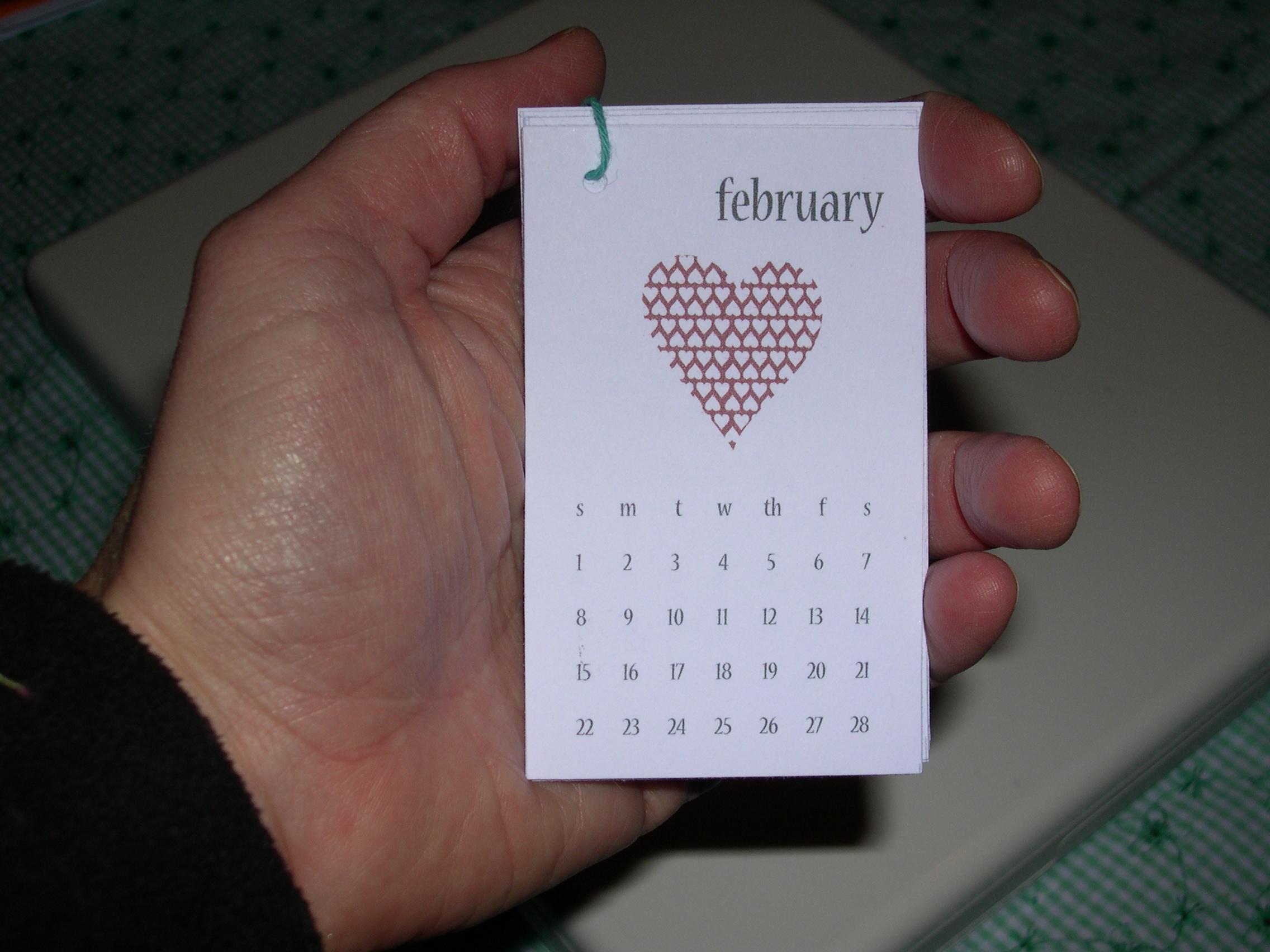 littlebrownpen mini calendar in hand
