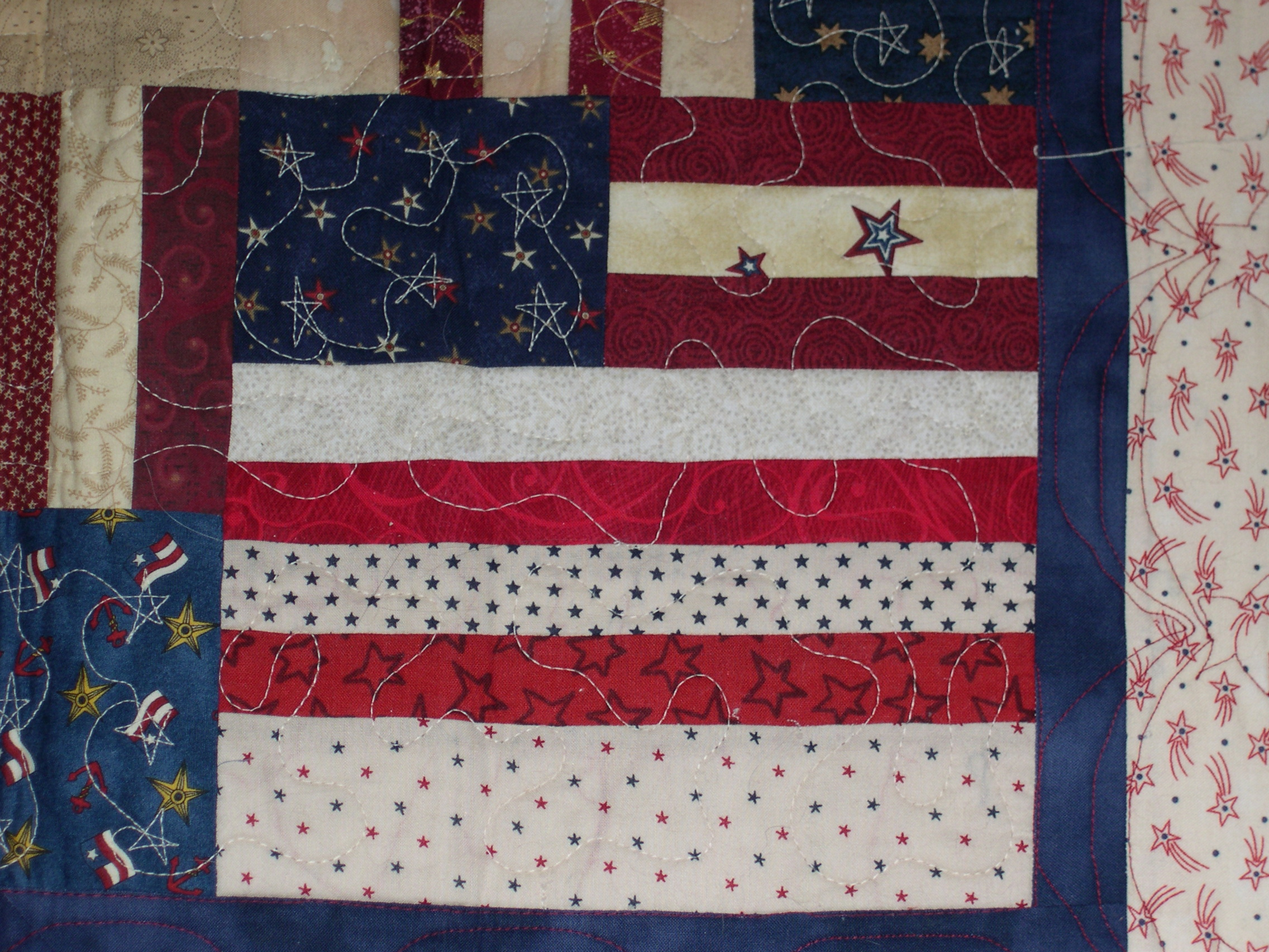 Second block of Flag Quilt