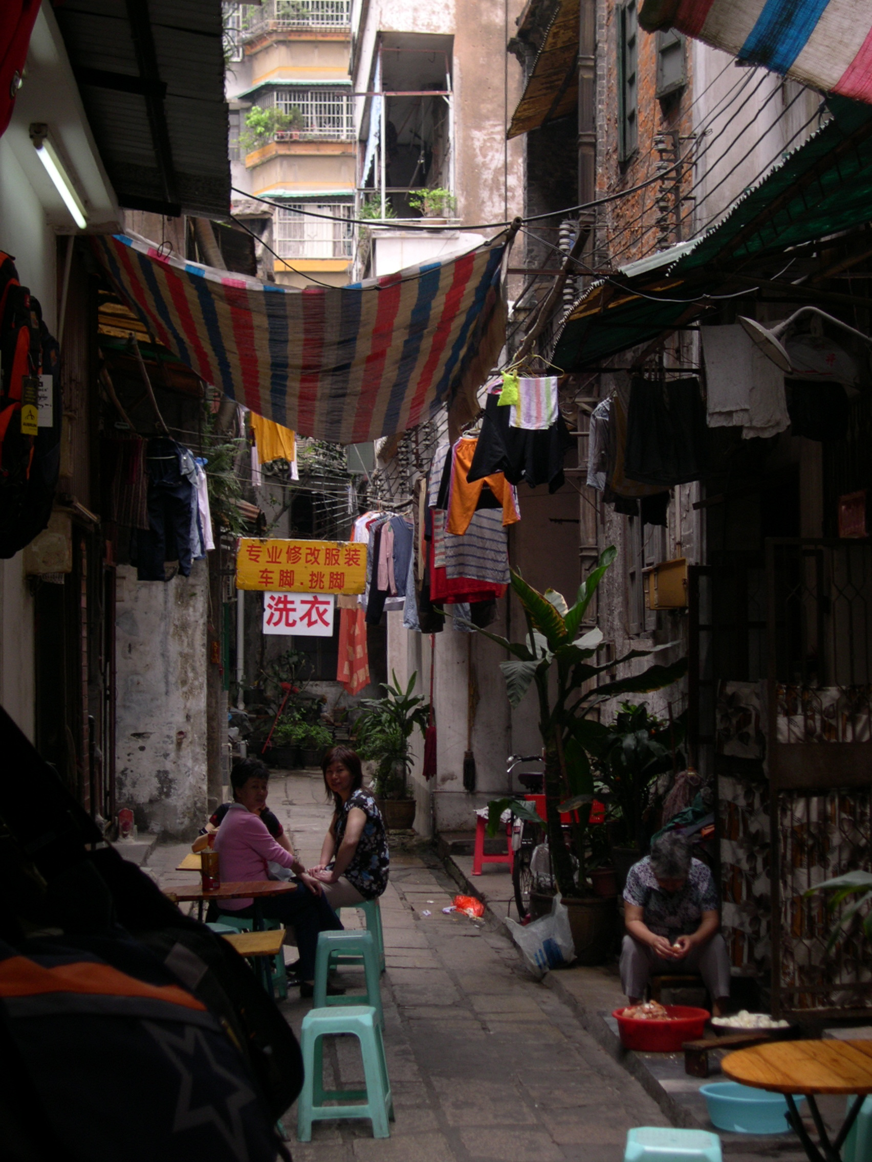 side streets of Guangzhou