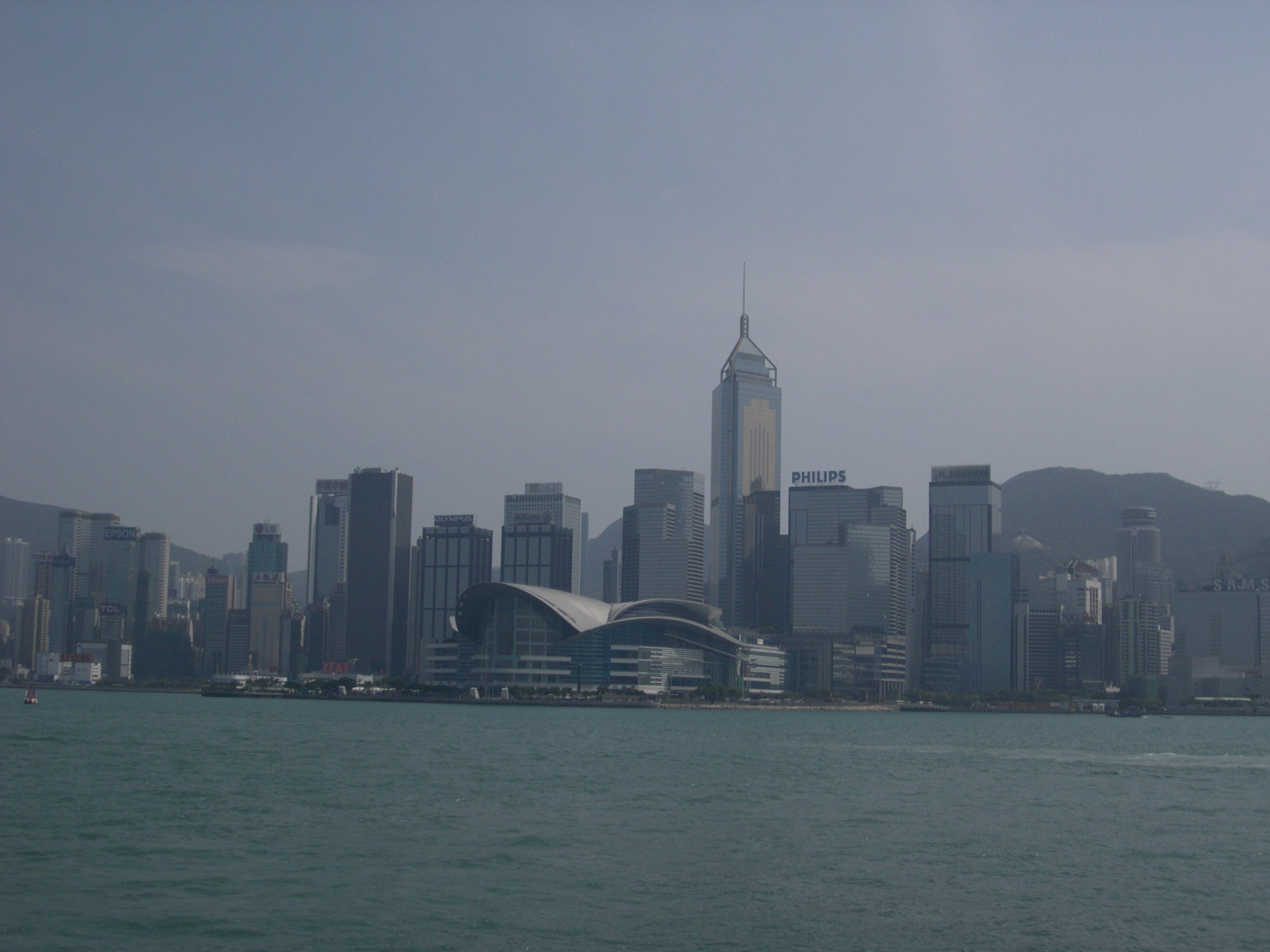 Hong Kong skyline from the water