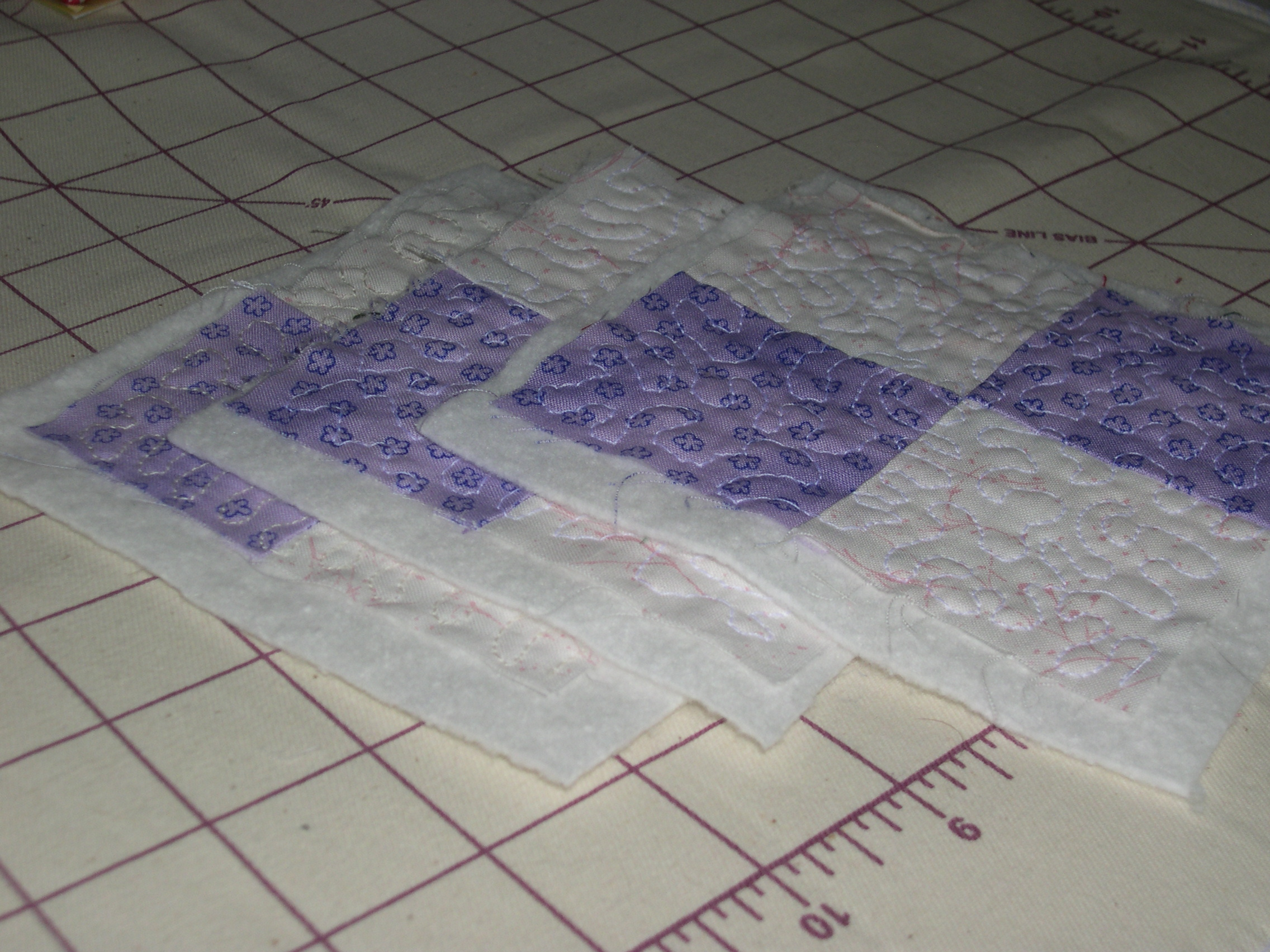 4-patch quilting practice
