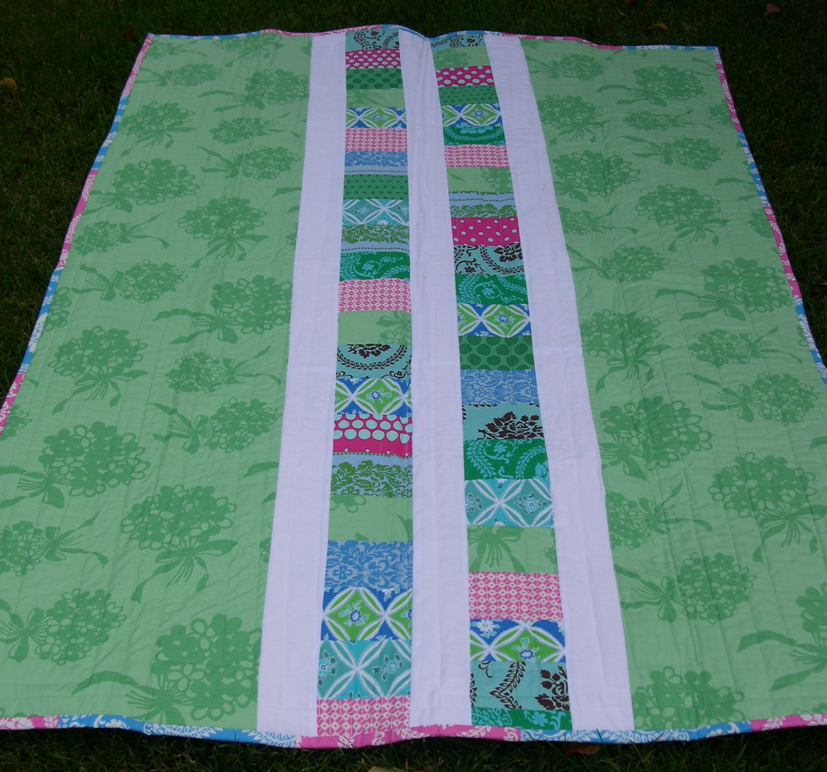 coin quilt backing