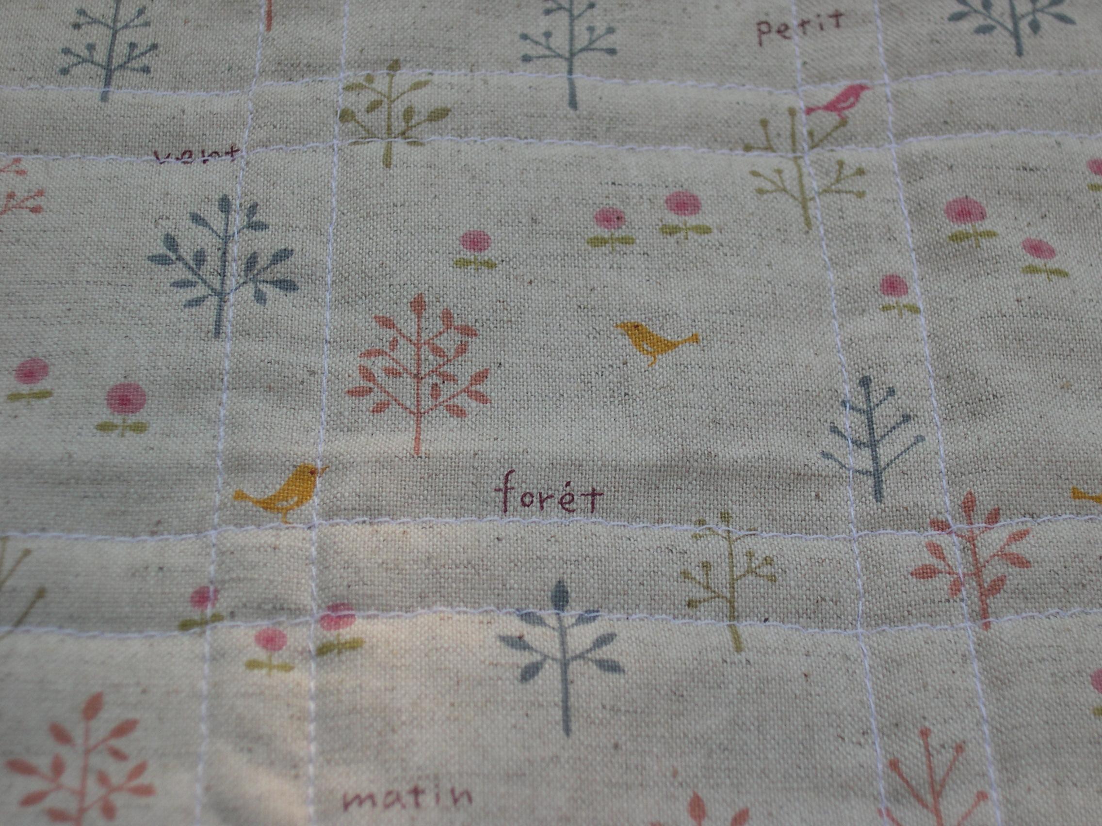 Linen backing fabric