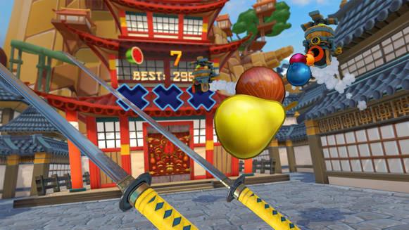 Fruit ninja en realitat virtual