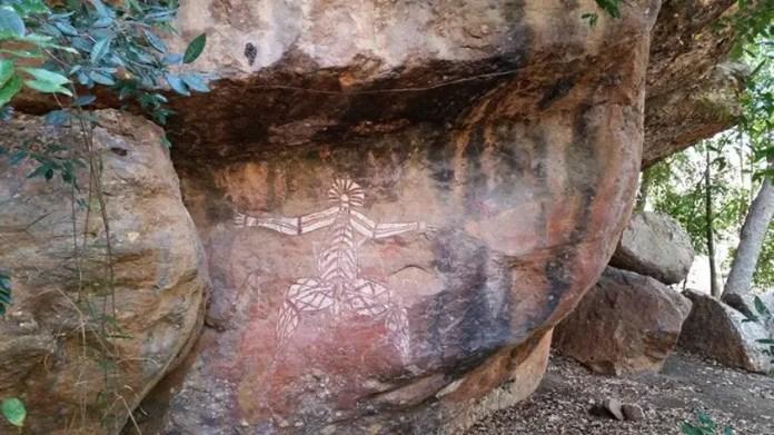 Pintura rupestre aborigen