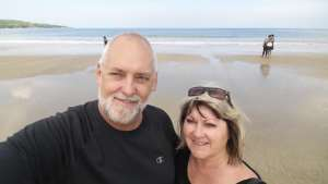 Selfie at Jimbaran Beach