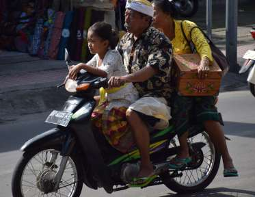 Crazy traffic in Bali