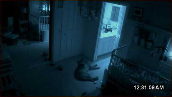 "Six channels and nothing to watch in ""Paranormal Activity 2""."