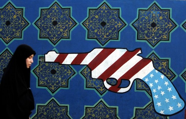 """More Iranian """"art."""" This time a nice mural."""