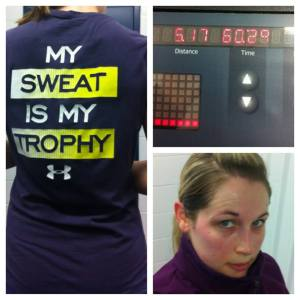 Training, Sweating, Serious