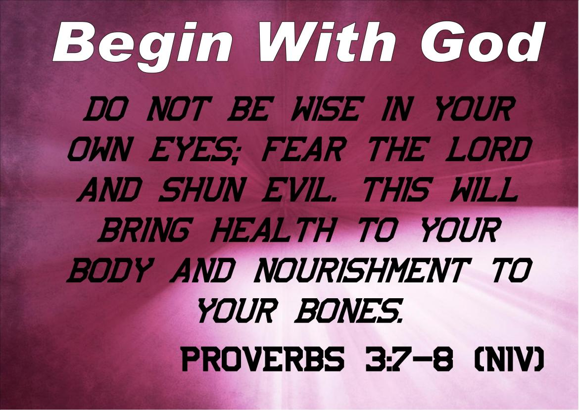 Begin With God