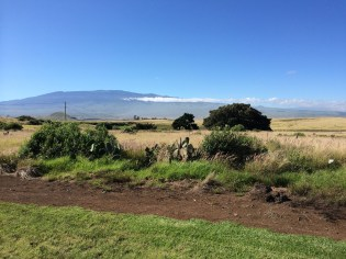 This is the last we'll see of Mauna Kea as we head south and up into the hills behind Kona...