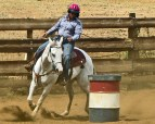 Girls' rodeo at Gunstock Ranch in Laie, on Oahu's North Shore...