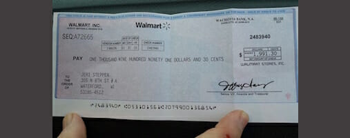 How to spot the Walmart check scam