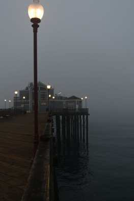 I went to the Oceanside Pier expecting a beautiful sunrise, but was fogged out. However, the show was no less spectacular.