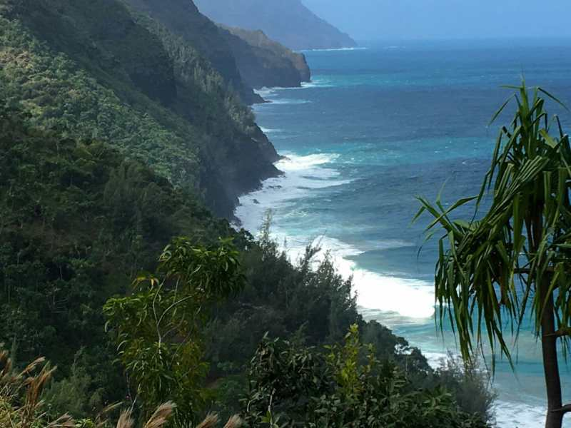 Hikers dream - view along the Na Pali Coast