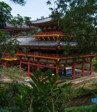 Byodo-In Temple was undergoing renovation