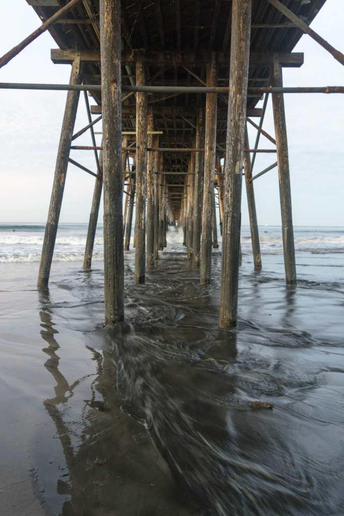 Beneath Oceanside Pier