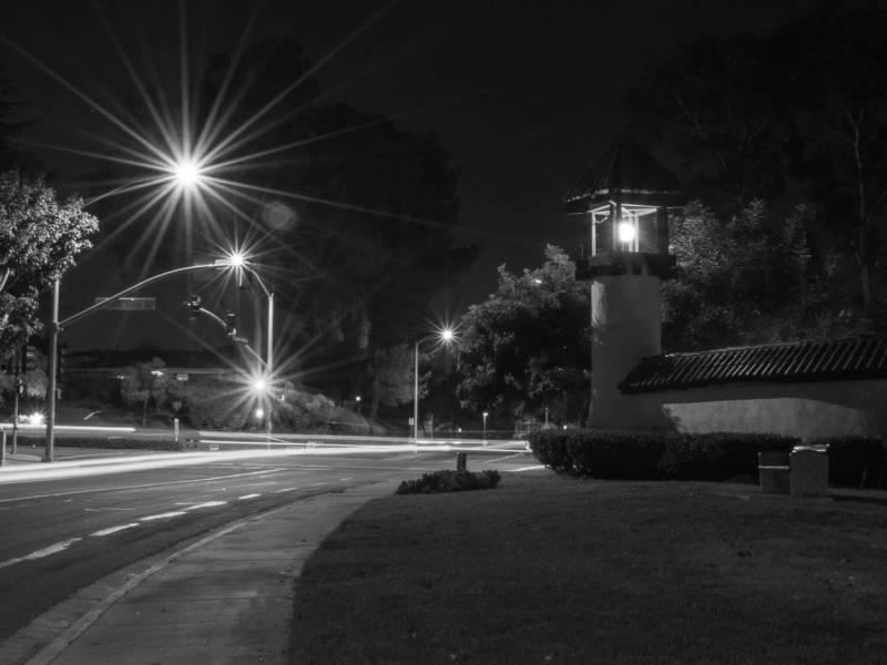 Lupine Hills and Shadowridge Dr. nighttime